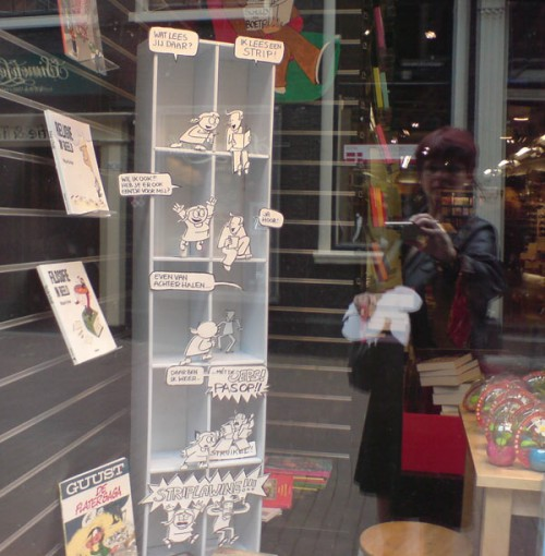 Me & my window at bookstore Coebergh, Haarlem