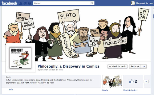 "Facebook page for 'Philosophy"" a Discovery in Comics'"
