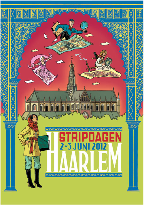 Poster for the Stripdagen Haarlem, by Peter van Dongen