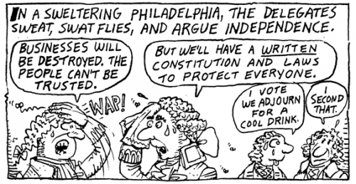 From Stan Mack's Taxes, The Tea Party, and Those Revolting Rebels