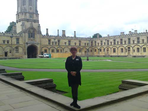 Me, student at Christ Church College
