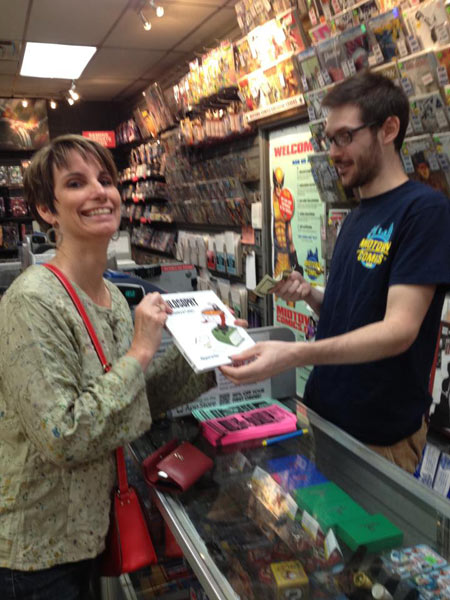 My friend Adrianne bought the book in Midtown Comics, New York